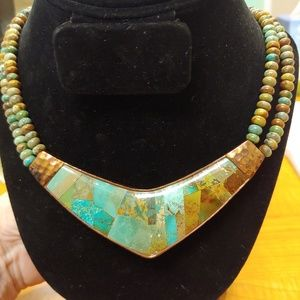 Jewelry - Authentic Turquoise and Copper Necklace